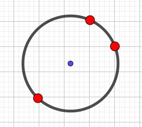 cercle et points colorés